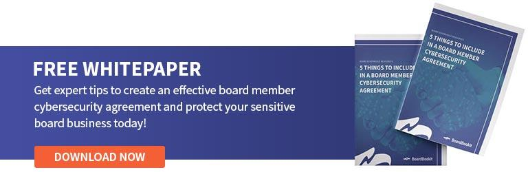 Board Member Cybersecurity Agreement Whitepaper Download