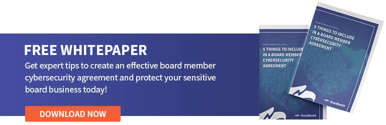 Board Cybersecurity Agreement | Free Download